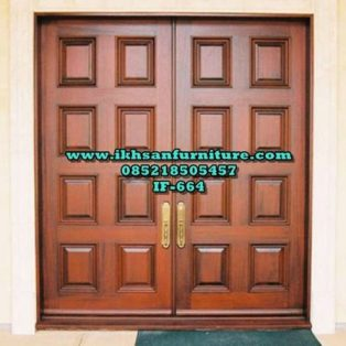Model Pintu Doubel Panel Kotak Modern